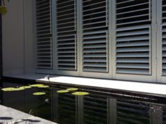 Shutters incorporating professional landscaping in the Helderberg area