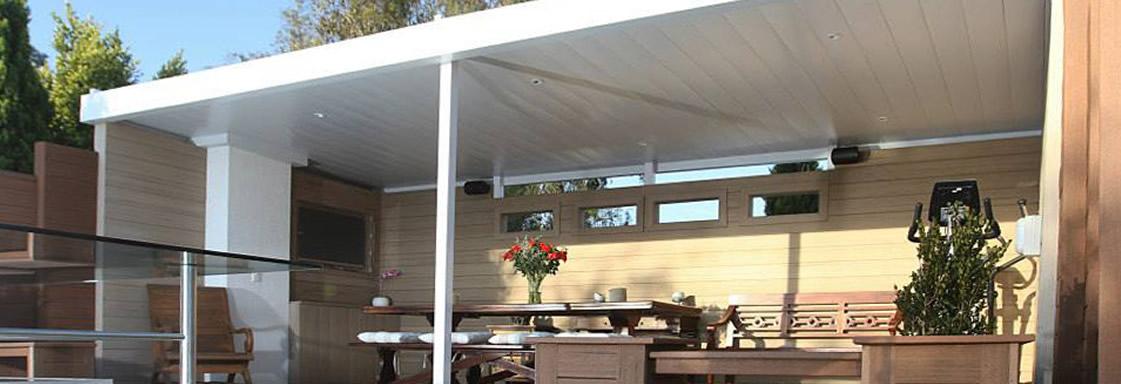 Patio ceilings carports blinds somerset west for Carport deck