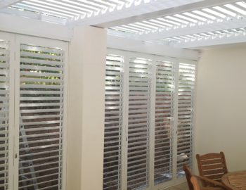 Louvres and Shutters to enclose your Patio